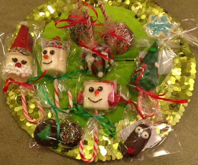Christmas Treats on a Plate