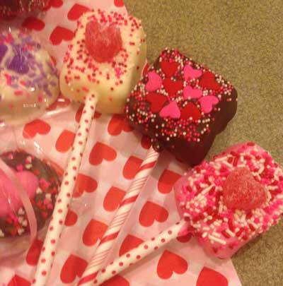 Valentine Marshmallow Suckers